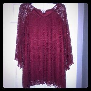 Beautiful Burgundy wine blouse!